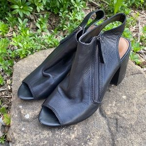 Peep Toe Ankle Booties Size 7